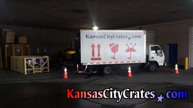 Truck building crate and pallet at Area Transportation Authority of Kansas City
