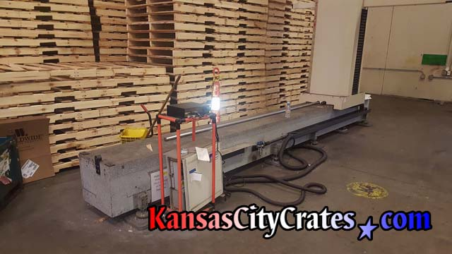 Large conveyor belt used for production of autoparts