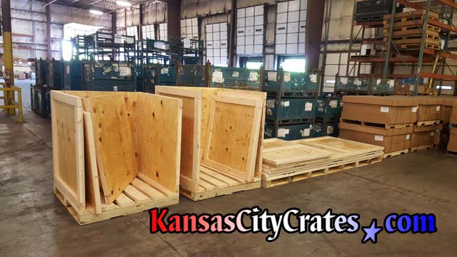 Heavy Duty vault crates with forklift base for factory relocation of Metrology and Laser Calibration equipment
