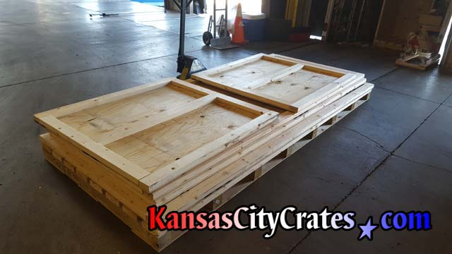 Knock down style heavy duty vault crate for shipping of industrial machinery