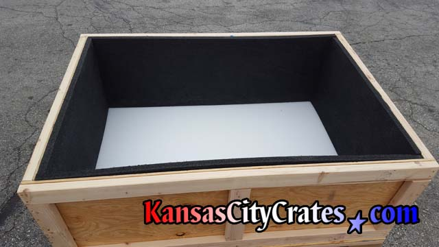Foam lined heavy duty vault crate for shipping medical instruments used in sleep labs to monitor patients sleeping habits and improve health