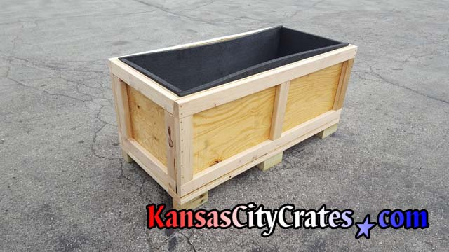 Premium foam lined heavy duty vault crate with forklift access for easy transportation