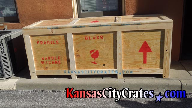 Large container for trade show delivered to customer for shipment to Las Vegas NV convention.