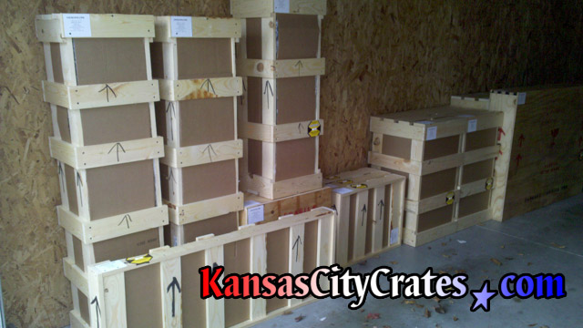 9 domestic slat crates in garage in Leawood KS  66211