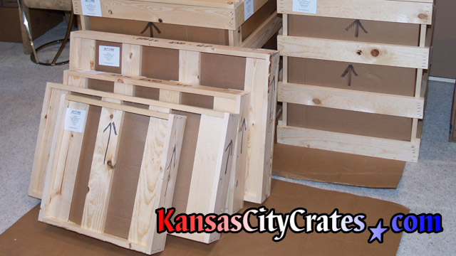 Box and flat crates on cardboard at home in Fort Leavenworth KS  66027