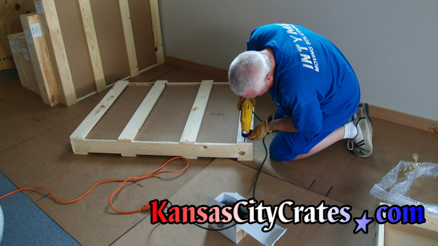Crates can be opened with a screw driver for easy removal of item.