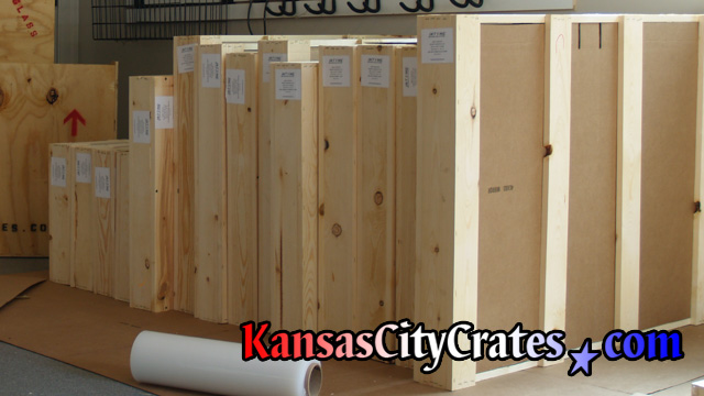 All crates are produced with new materials to keep item and location clean.