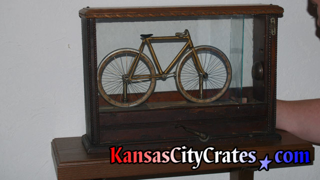 Wright Cycle Company miniature Van Cleve Bicycle under glass.  circa 1896