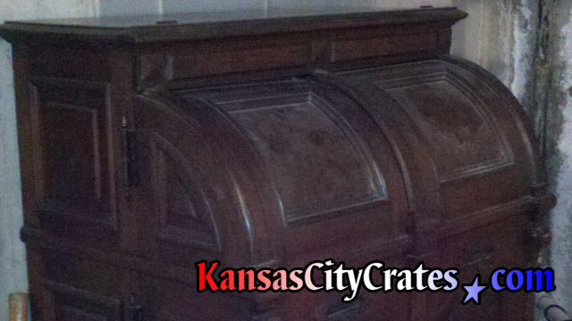 Wooton Cabinet Office Secretary desk before crating. circa 1874