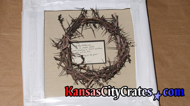 Handmade Crown of Thorns symboling that placed on Jesus Christ's head during his crucifixion.
