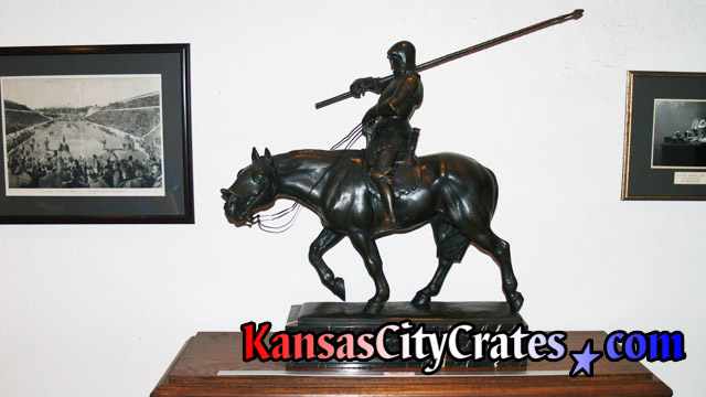 Bronze sculpture of Maximilian I, Christian Knight & Holy Roman Emperor 1459-1519 at mansion in Kansas City MO 64129