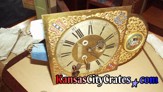 Antique handmade clock face.