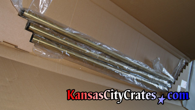 Tubular chimes must be removed before packing and crating clock for transport.