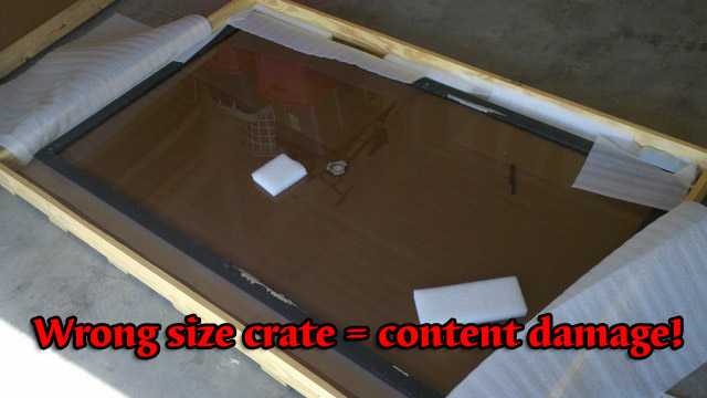 crate too large for glass top
