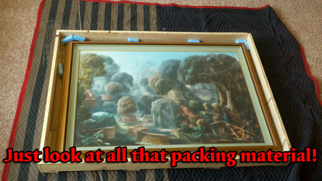 oil painting loose in crate