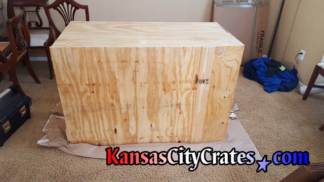 Sealed crate for shipping furniture