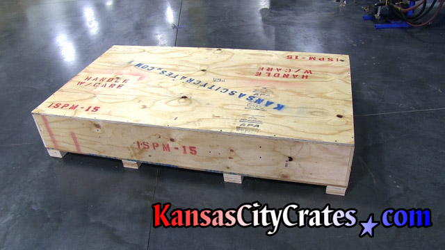 ISPM-15 export vault like crate ready for shipment.