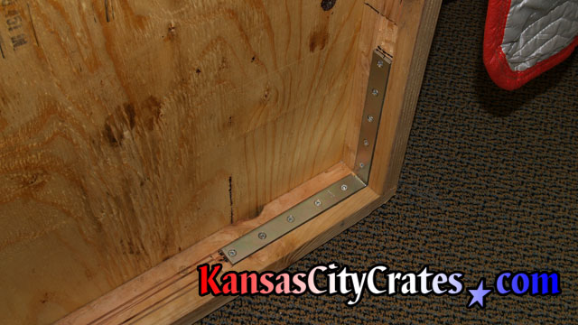 1 of 2 heavy duty wood crates required for packing and shipping conference room talbe at law firm in Kansas City MO 64105