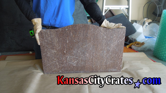 Antique marble top from curio cabinet at home in Kansas City MO 64152