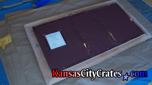 Wrapping fine art for export crate at home in Shawnee Mission KS