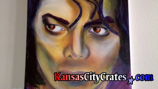 Fine art oil painting of pop star Michael Jackson after his death in 2009.