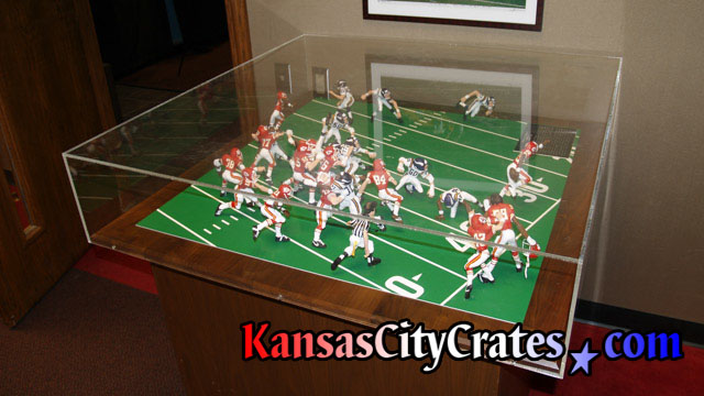 Recreation of Kansas City Chief's wide receiver Otis Taylor winning Superbowl IV