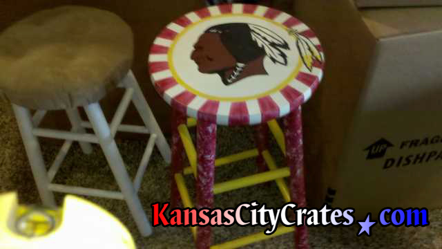 Washington Redskins  bar stool autographed by Trent Green.
