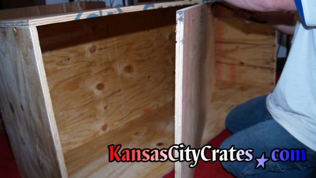Indestructible box crate for antique American Indian Chief at mansion in Kansas City MO  64129