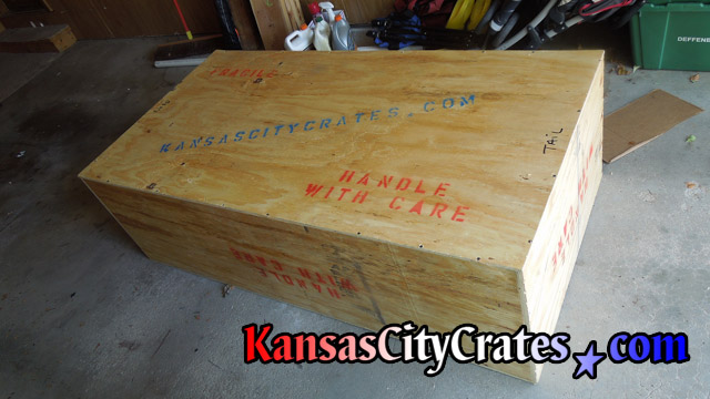 Wood crate for trophy bird at home in Edwardsville KS  66113