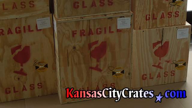 All wood crates for glass statues at home in Warrensburg MO  64093