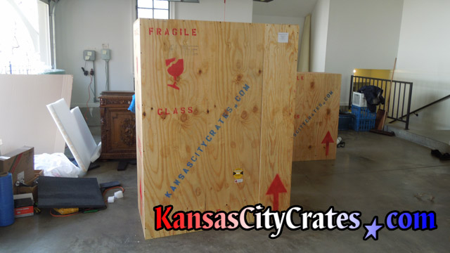 Large wood crate used for storage at home in Lee's Summit MO  64019
