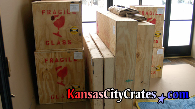 Solid wall wood crates for temporary storage at home in Platte City MO 64079