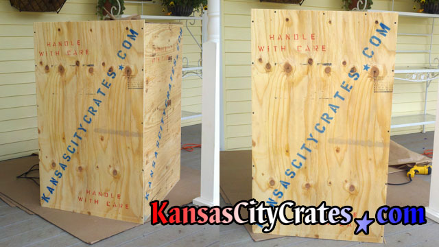 Solid wall wood crate for shipping.