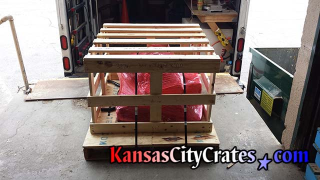 Finished crate and skid for 1967 Fiat Motor purchased on eBay for shipping to Sandiego CA 92112