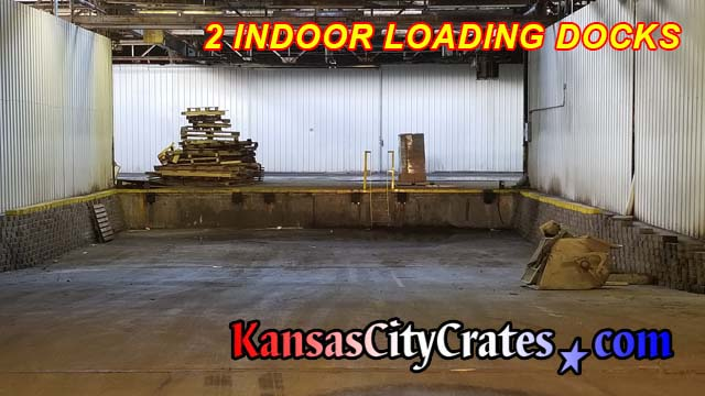 Two indoor loading docks will accomodate 53' foot trailers and cab