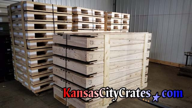 3,000 lb shock pallets with heavy duty loading ramps ready for shipping