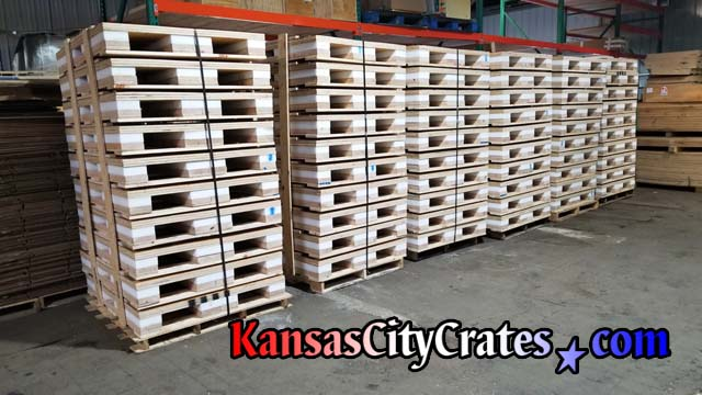 Inventory of shock pallets in-stock for quick shipping