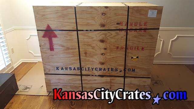 Steel banded export crate.