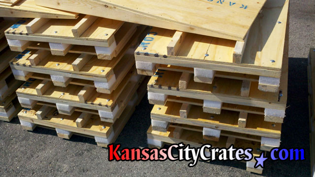 Shock resistant wood shipping pallet for Medical Technologoes.